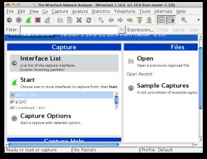 Wireshark Opening Screen